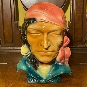 VTG Royal Copley Pirate Head Pocket Vase